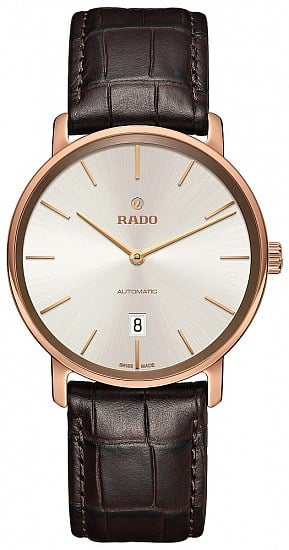 Rado DiaMaster Gent Automatic Thinline XL Rose Gold Ceramos R14068026