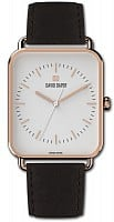 David Daper Time Square Gents Leather Rose Gold PVD 02 RG 01 C02