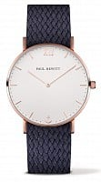 Paul Hewitt Sailor Line Rose IP White Sand Perlon Navy Blue PH-SA-R-St-W-17M