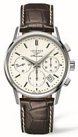 Longines Heritage Column-Wheel Chronograph Strap XL L2.749.4.72.4