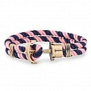 Paul Hewitt Bransoletka Phreps Rozmiar M Brass Nylon Navy Blue / Light Pink PH-PH-N-NLP-M