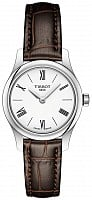 Tissot Tradition Lady Ultra Fine Brown Leather White Dial T063.009.16.018.00